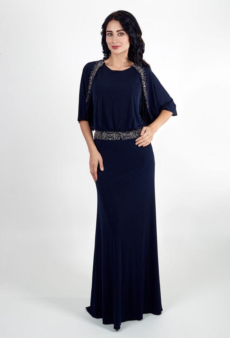 Синее платье для полных | Blue full length dress