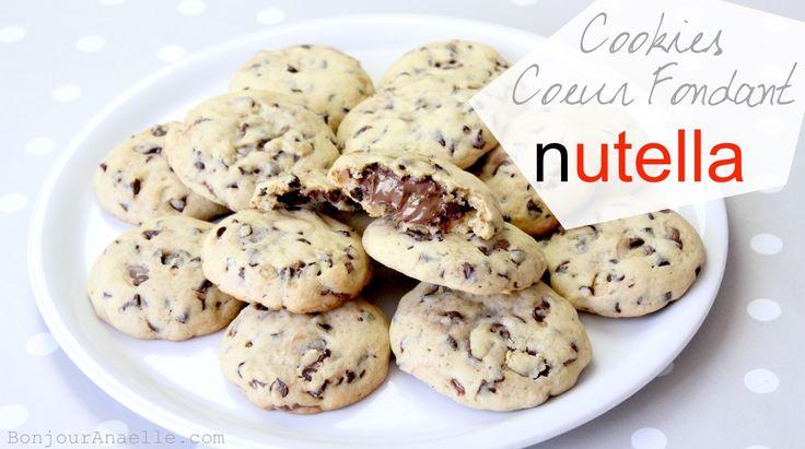 Elle est ENFIN là ! LA fameuse recette de Cookies au Nutella dont je vous parle depuis 2 mois maint...