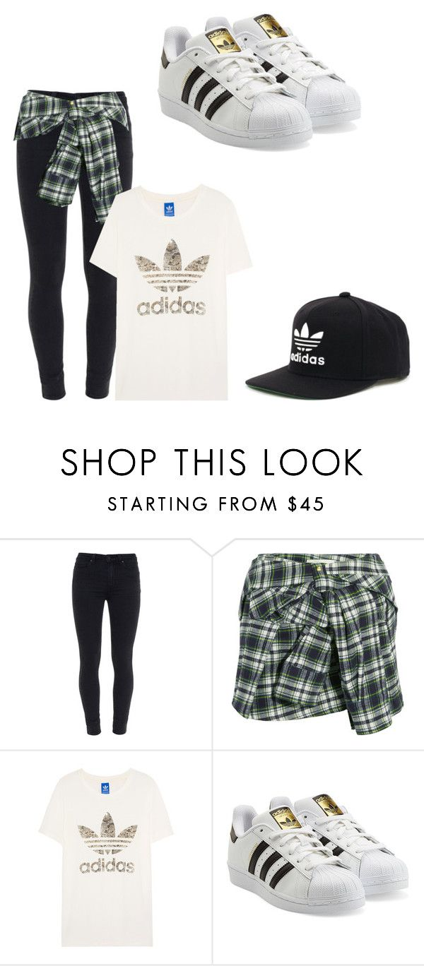"""""""throw on clothes✌️"""" by dre17 on Polyvore featuring Paige Denim, Faith Connexion, adidas Originals and adidas"""