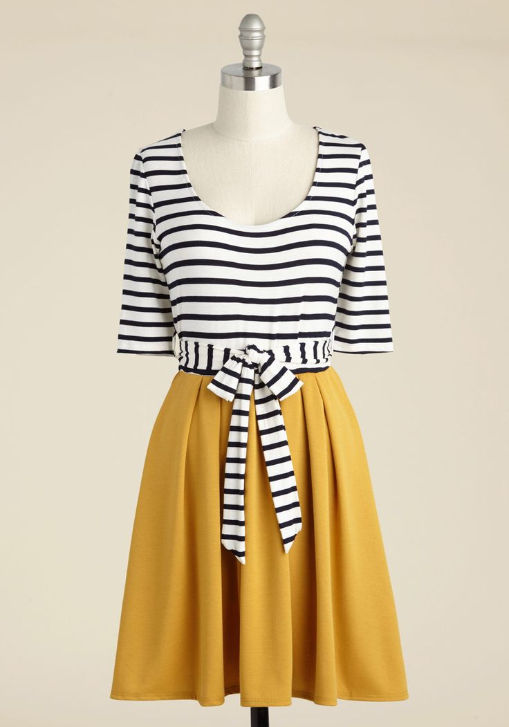 In the Very Near Twofer Striped Dress, #ModCloth