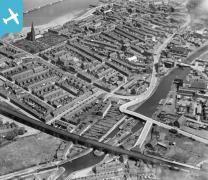 Waterloo Bridge and the town, Runcorn, 1928