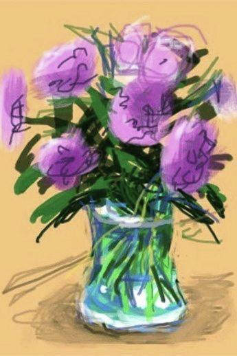 David Hockney, flowers