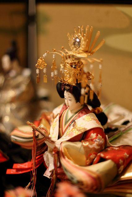 ひな人形 A Hina doll displayed on the Girl's Festival, Japan