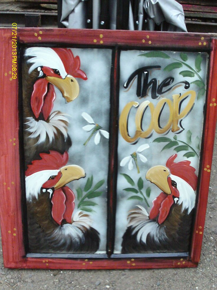 painted window. sells for $35.00