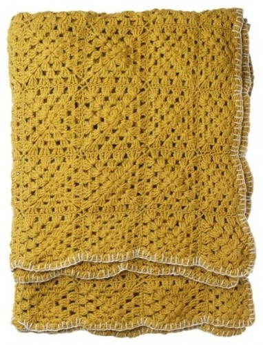 Throw blanket for mustard yellow & chocolate brown living room in our new house:)