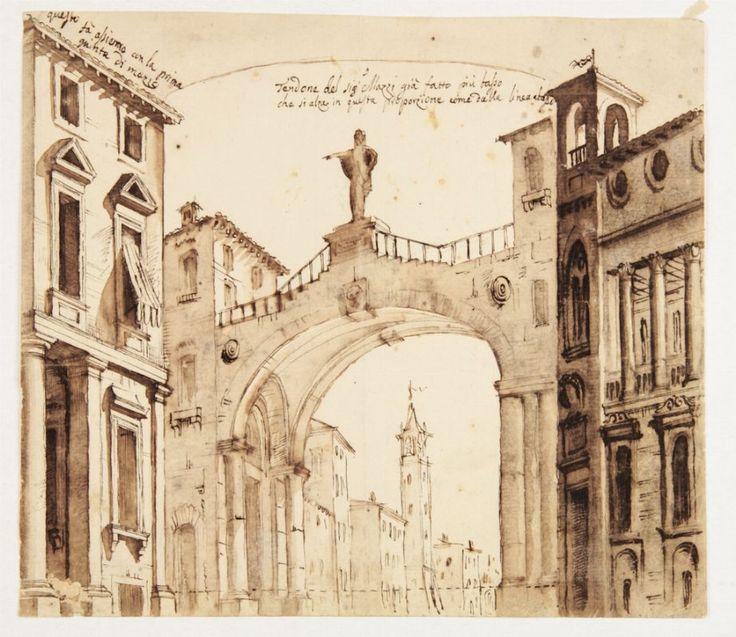 Vincenzo Mazzi [attribuito a] : Tendone del Signor Mazzi.  - Asta Stampe, disegni, carte geografiche e vedute - Libreria Antiquaria Gonnelli - Casa d