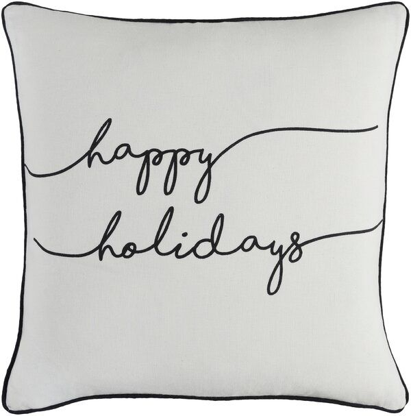 Draeger Holiday Cotton Throw Pillow Cover Holiday Throw Pillow Holiday Throw Pillow Covers Cotton Throw Pillow