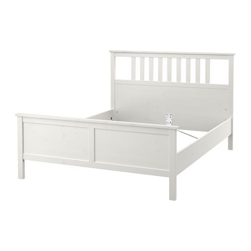 hemnes bed frame white stain l nset warm i want and king. Black Bedroom Furniture Sets. Home Design Ideas