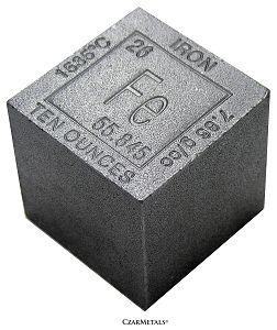 "10 Ounce Iron 1.375"" Elemental Cube Square .999 Fine"