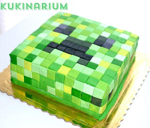 creeper birthday cake decoration - minecraft