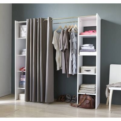 25 best ideas about closet solutions on pinterest no for Small bedroom no closet