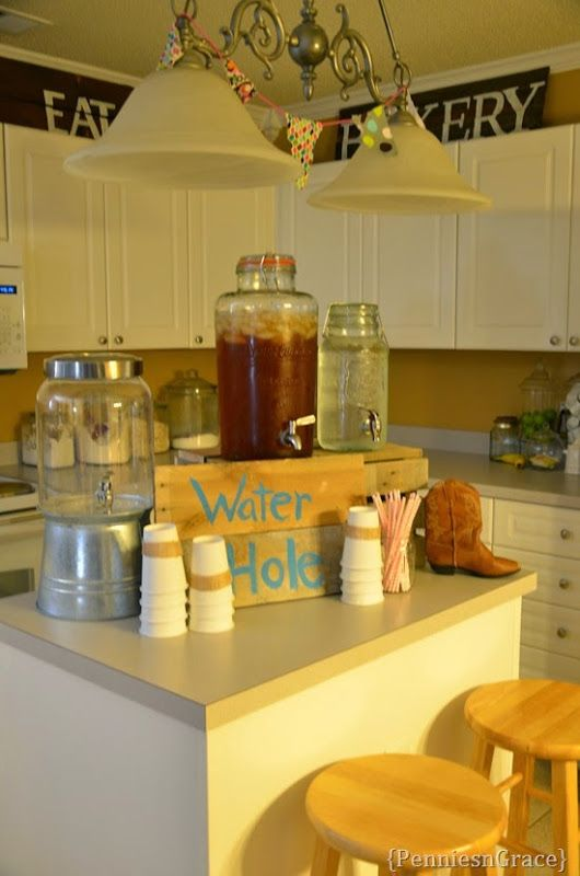 Water hole, horse birthday party, diy, parties