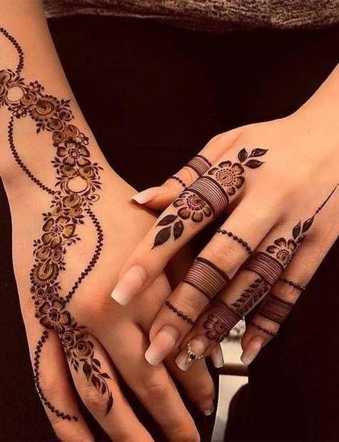 تعلم نقش الحناء للمبتدئين مع افضل تصاميم الحناء نقش حناء رسم حناء Henna Tattoo Latest Mehndi Designs New Mehndi Designs Mehndi Designs For Fingers