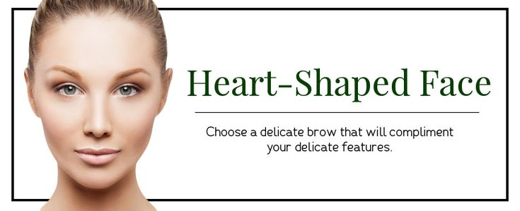 Eyebrow Shapes for heart shaped faces   Different Eyebrow Shapes