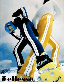 vintage ski fashion - Ellesse stretch pants
