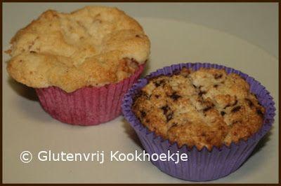 Muffins zonder ei, lactose en gluten | Het Glutenvrije Kookhoekje