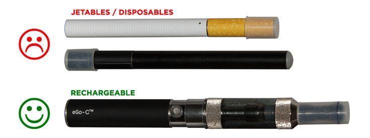 E-cigarette rechargeable vs. cigarette électronique jetable
