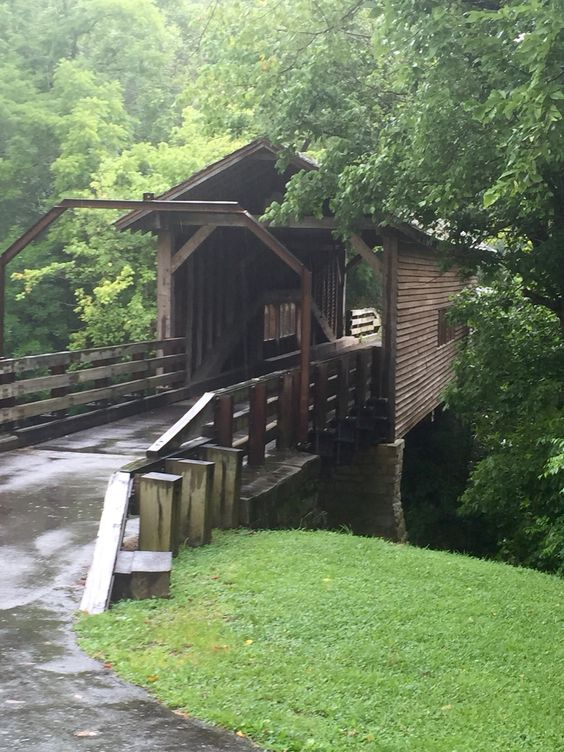 Harrisburg Covered Bridge Sevier Co. Tn. ( taken in July 2015 ). Becton's 5th. Birthday
