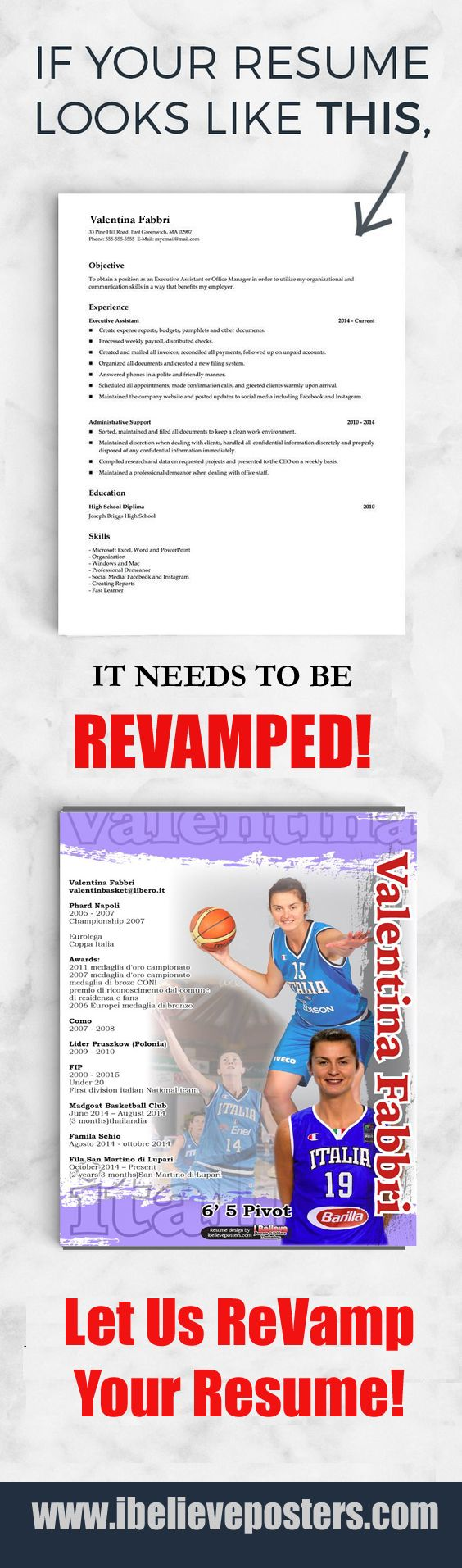 97 Best Sports Resumes Recruiting Flyers Images On Pinterest