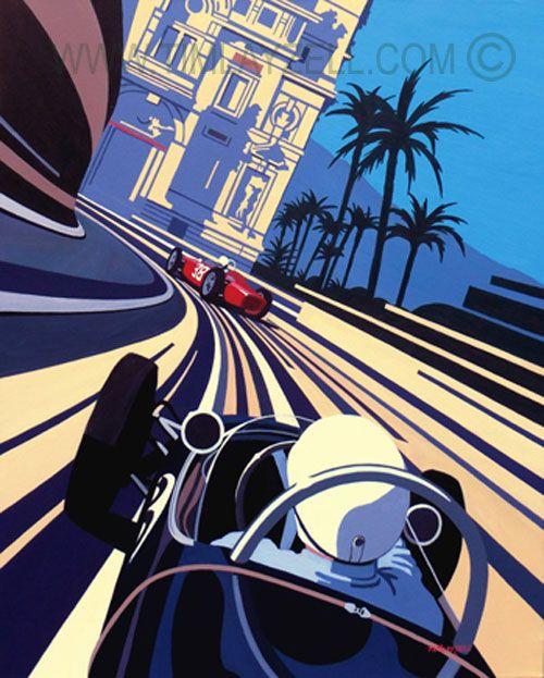 Tim Layzell - GP Historique de Monaco.