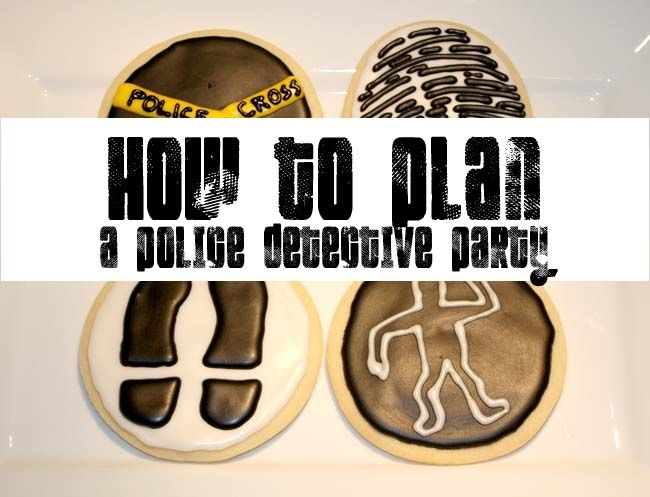 Police detective party ideas also good for secret agent birthday party. Geared towards kids, but throw in a game of mafia and some fancy drinks and viola! you have an adult night. :D