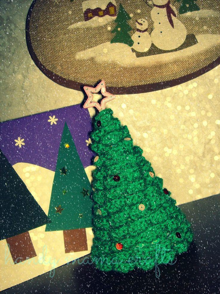 Πλεκτό Χριστουγεννιάτικο δεντράκι!