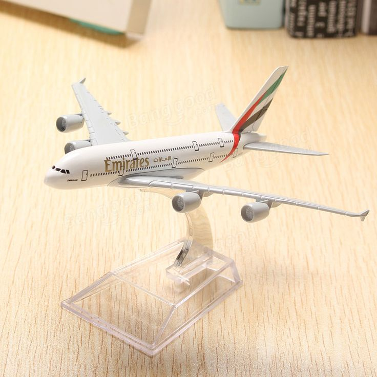 WH A380 Emirates Aircraft Model 16cm Airline Airplane Aeroplan Diecast Model Collection Decor Sale - Banggood.com