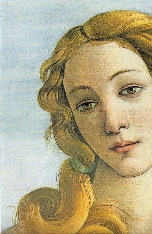 Sandro Botticelli, The Birth of Venus (1482-85) detail.