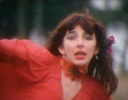 Kate Bush, Wuthering Heights, red dress - costume inspiration
