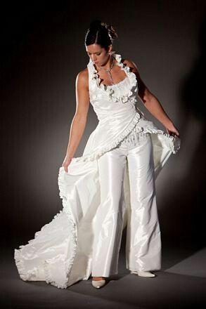Broekpak wit bruidsparadijs