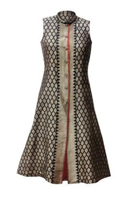 Silk kurti . . get it at www.myTailor.in