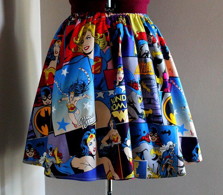Woman Superheroes Skirt by tintiara
