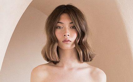 Ecaille tortoiseshell hair on long hair