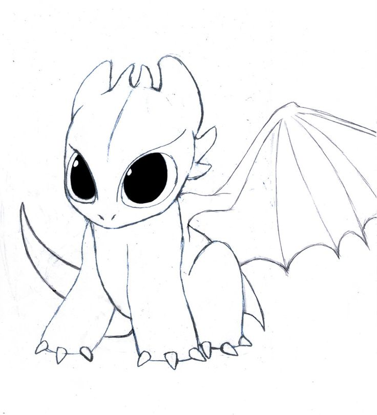 Chibi Toothless by drmambo199 | Easy dragon drawings ...