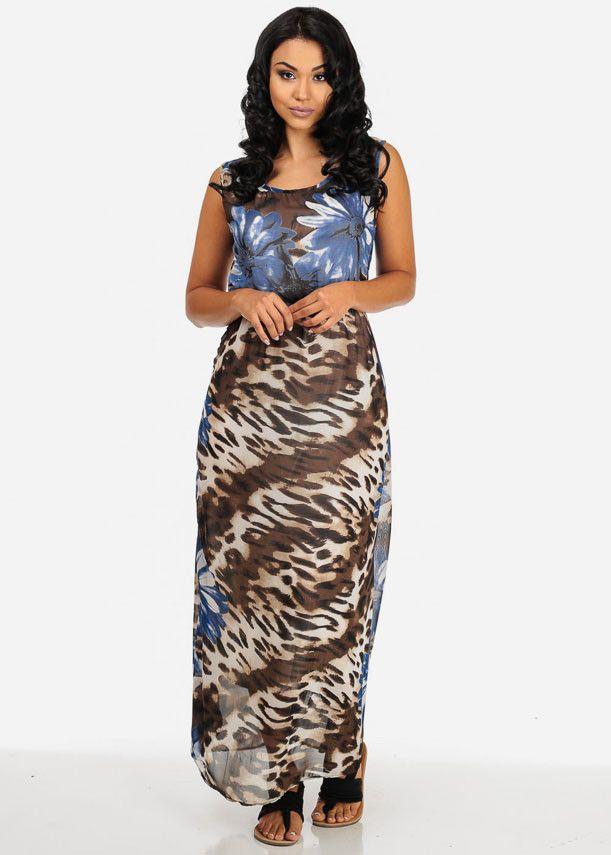Cowl neck shoulder pad slinky maxi dress