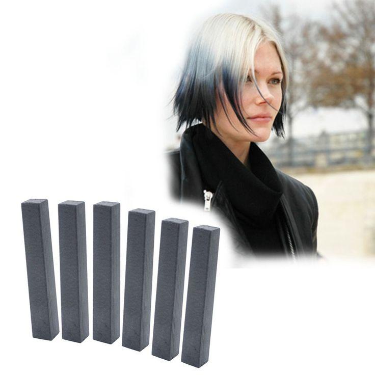 Licorice Black Hair Dye | GOTHICA 6 Black Hair Dye | HairChalk  Deep Black Hair Color for your temporary hair dying fun! A complete 6 Hair Chalk Black hair kit