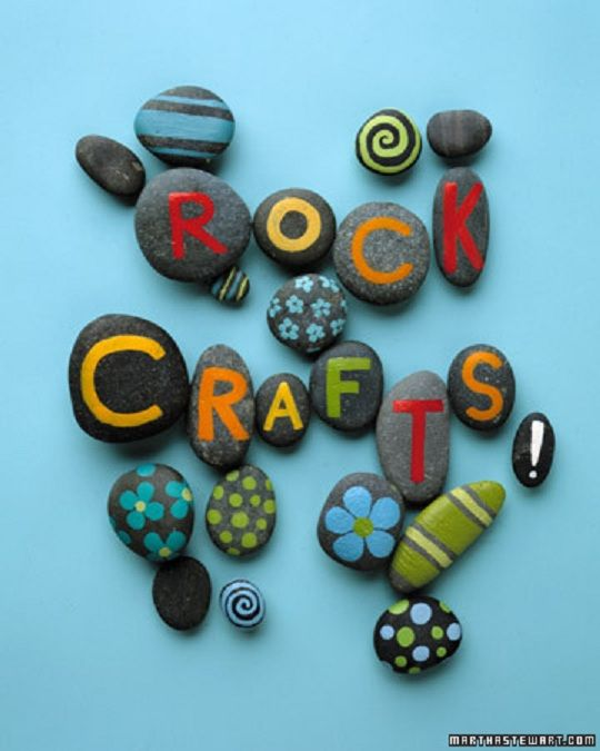 8 Of The Best Children's Craft Sites  Tori could have something to do with all her rocks!