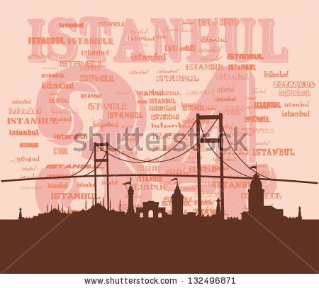 Istanbul City Retro Style Vector Art - 132496871 : Shutterstock