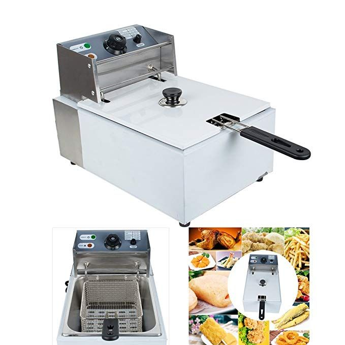 Denshine 5 5l Electric Countertop Deep Fryer With Basket Electric