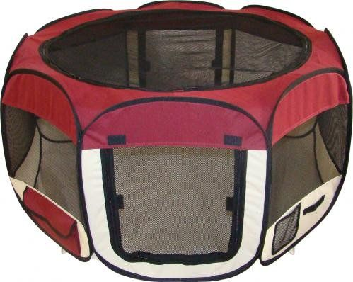 "$29.00-$89.99 Whether inside or outside the Best Pet Soft Sided Play Pen is the answer for a play pen for that is quick and easy to set up. It is excellent for travel because it sets up in seconds yet folds easily and stores in a carrying case that is just 24"" by 19"" by 2"" thick. This water-resistant play pen works well inside or out and is especially useful for sick or expecting pets that need t ..."