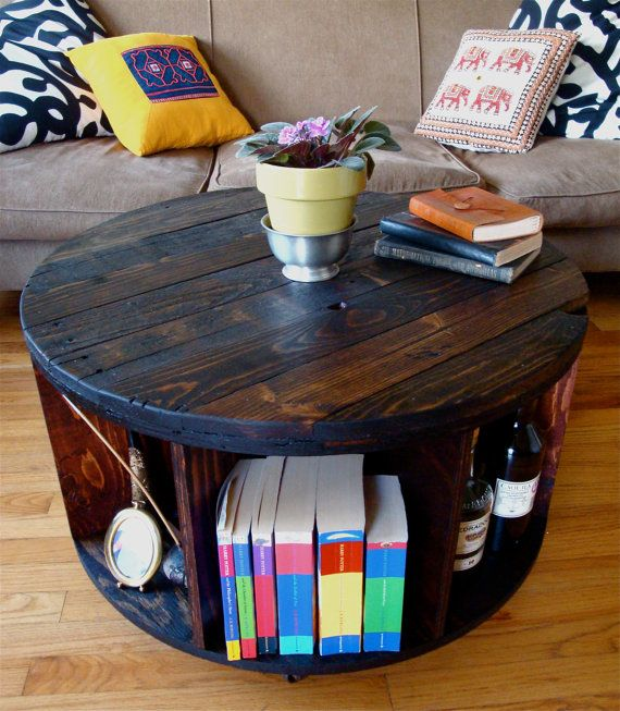 Hey, I found this really awesome Etsy listing at https://www.etsy.com/listing/191020685/spool-coffee-table-with-storage