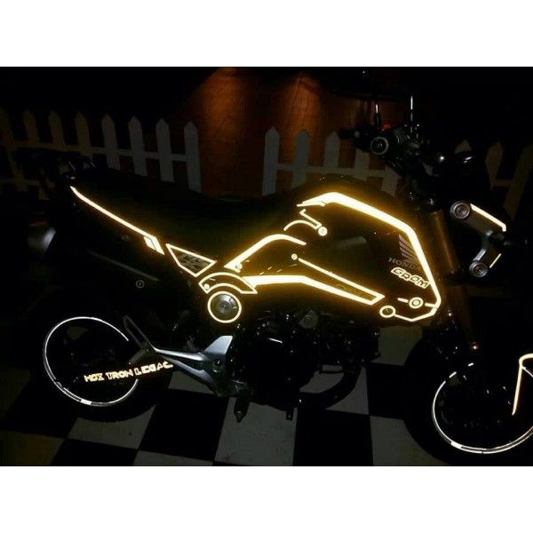 Honda Grom MSX125 Reflective Tron Sticker Decal Set