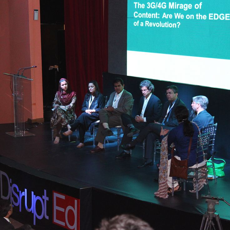 Speakers discussing whether Pakistan is ready for the e-learning revolution.