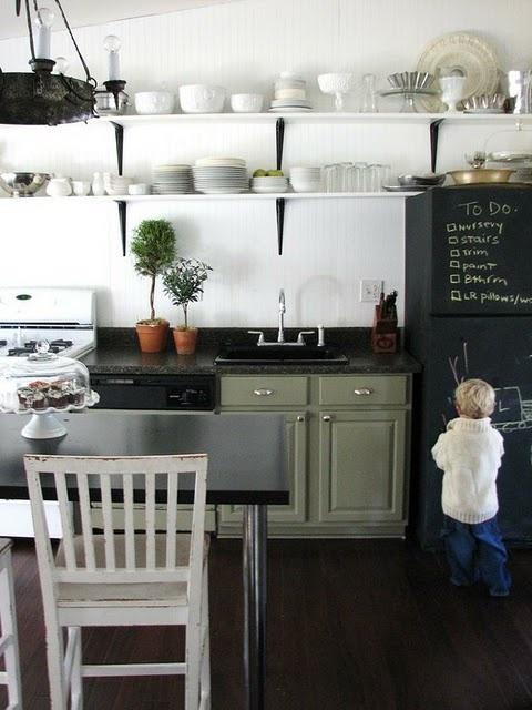 Grey Black And White Kitchen