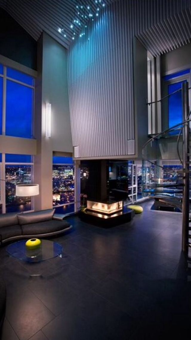 Luxurious Penthouse Dramatic Interior Luxury Interior THE AQUARIUS PENTHOUSE SUITE Luxury Prorsum
