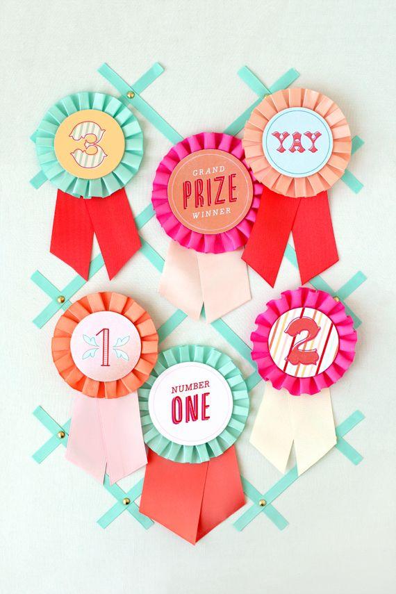 Printable Birthday Ribbon ~ Diy prize ribbon printables