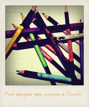 Des étiquettes de toues les couleurs pour les fournitures scolaires / c monetiquette