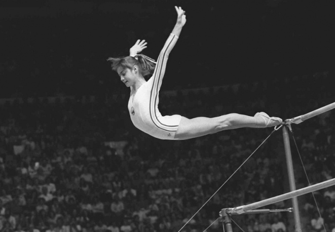 """Hard work has made it easy. That is my secret. That is why I win."" - Nadia Comaneci"