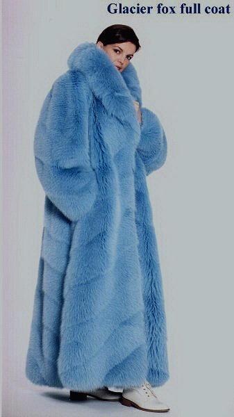 Blue Fur Coat LookBook Beauty & Fashion Mink Jackets