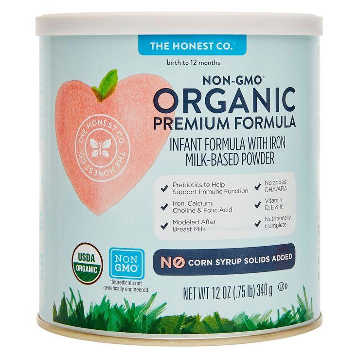 Honest Company Premium Organic Lactose Infant Formula - 12oz